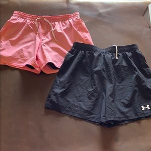 Women's Nike under armour running shorts lot of 2